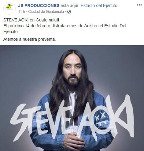 Steve Aoki en Guatemala 2020