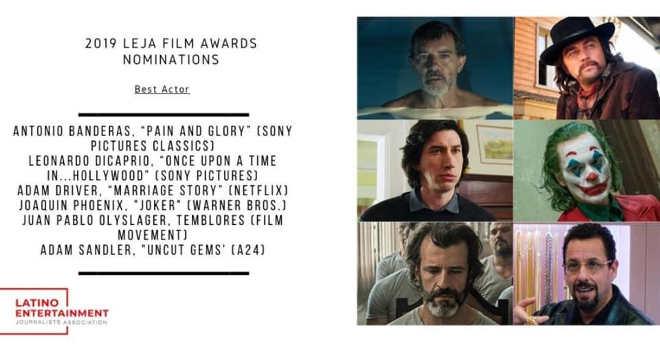 Actor guatemalteco está nominado junto a Leonardo DiCaprio y Joaquin Phoenix