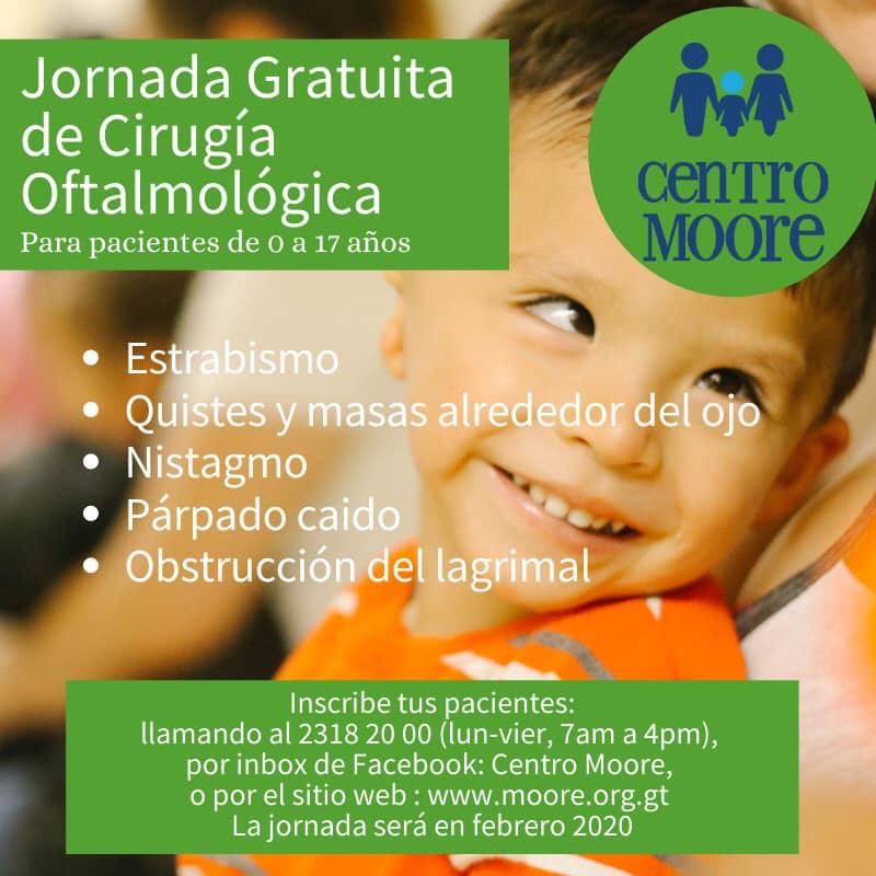Cirugía oftalmológica gratuita para niños y adolescentes