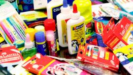 Donación de útiles escolares para niños de escasos recursos