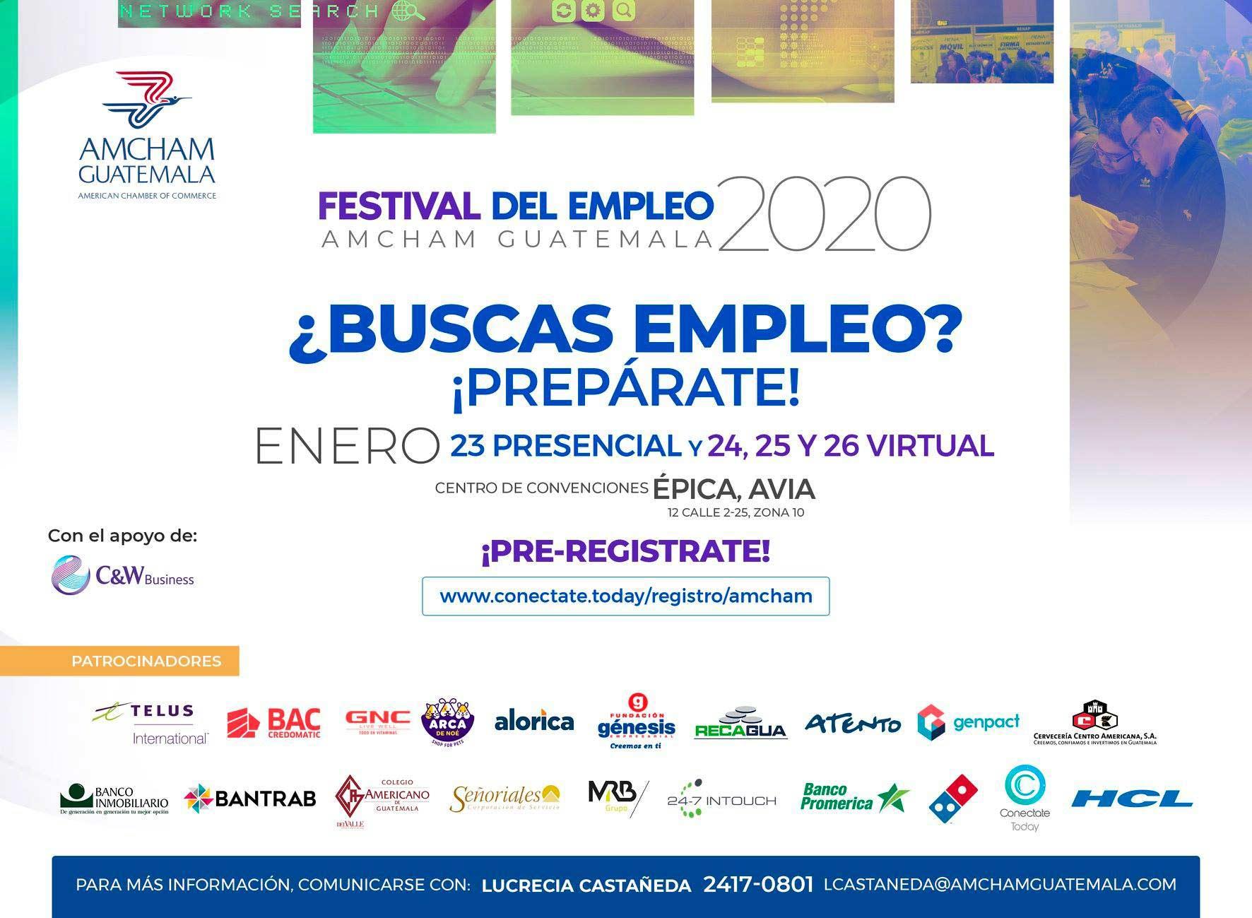 Festival de empleo en línea Guatemala 2020
