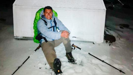 Fotos y videos de la cima del Volcán Acatenango cubierta de hielo en enero 2020