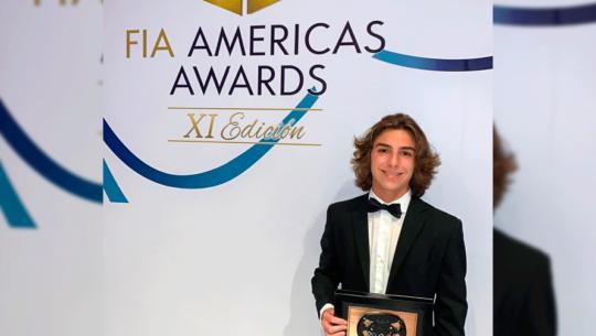 Mateo Llarena fue elegido piloto del 2019 por los FIA Americas Awards