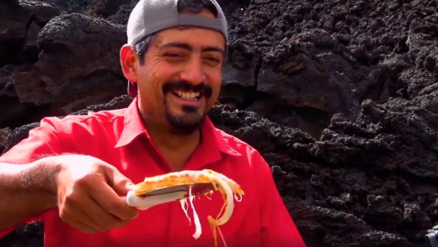 Pizza Pacaya, la única pizza volcánica del mundo creada por un guatemalteco