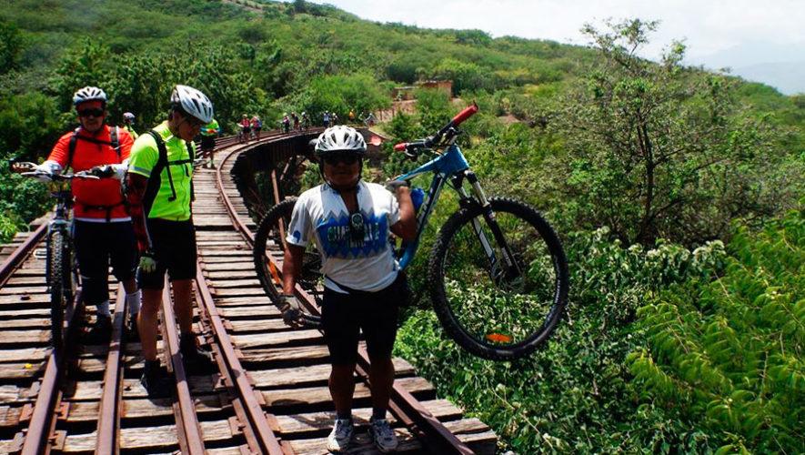 Travesía en bicicleta por las antiguas vías férreas de El Progreso   Enero 2020