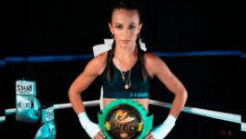 María Micheo, ganadora del premio Boxeadora Revelación 2019 por la WBC