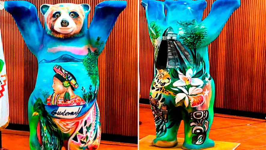 Buddy Bear guatemalteco estará expuesto en la Plaza de la Amistad