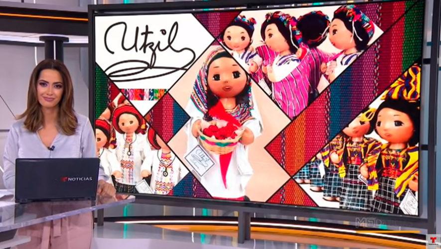 Muñecas guatemaltecas hechas con materiales reciclados destacaron en programa de Telemundo