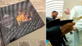 Papa Francisco recibió libro con fotografías guatemaltecas de Semana Santa
