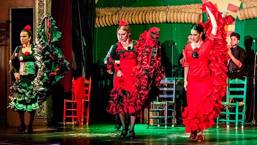 Show de baile flamenco y música en vivo