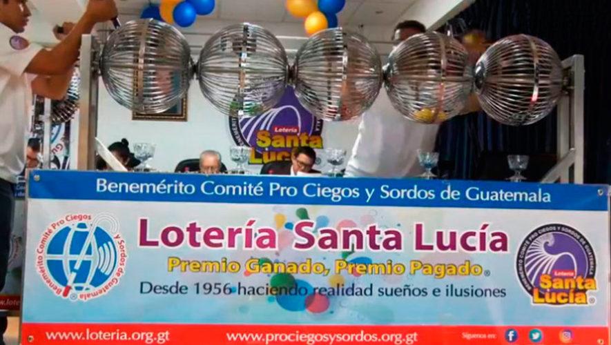 Sorteo extraordinario 349 de Lotería Santa Lucía | Febrero 2020