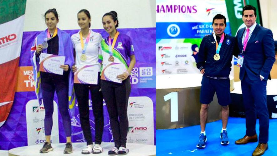 Yuliena Pedroza y Gersson Mejía se vistieron de oro en el México Open Championships G-1 2020