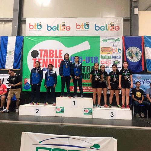 centroamericano u15 u18 tenis mesa bronce-femenino