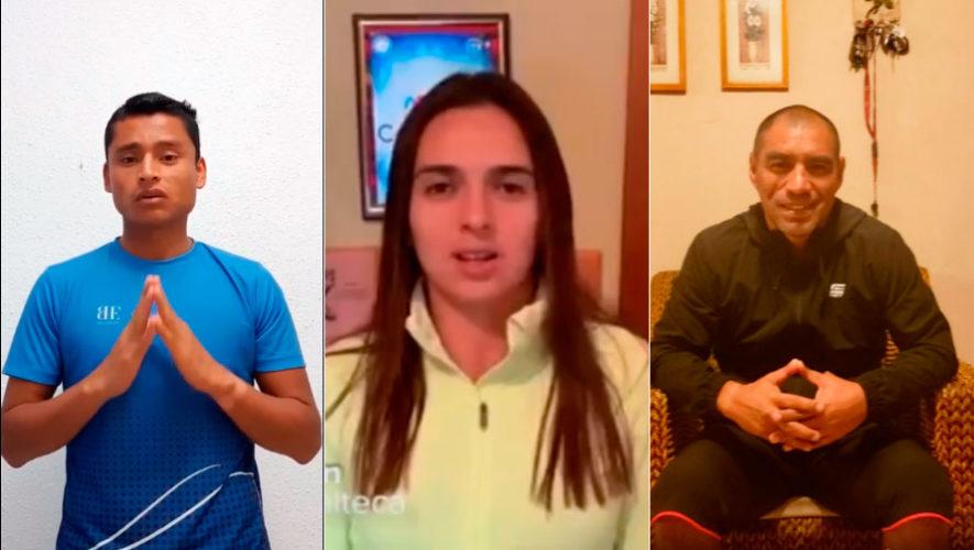 Atletas se unen enviando mensajes a guatemaltecos para que se queden en casa