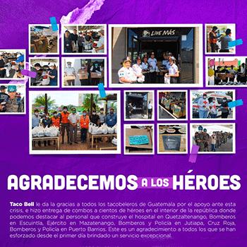 COVID19 Taco Bell sorprende a servidores públicos guatemaltecos con comida 2