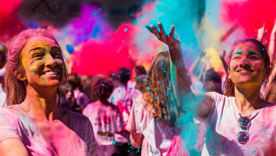 Celebración de holi, festival de color de la India en Guatemala | Marzo 2020