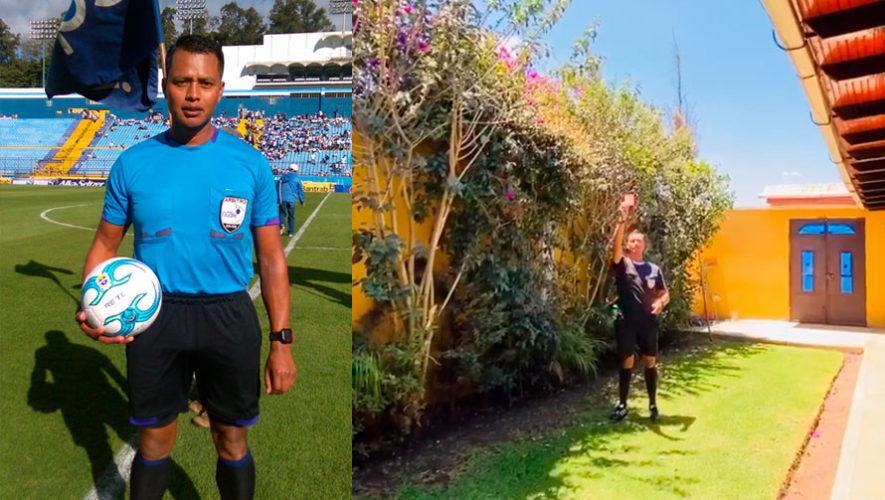 El peculiar mensaje del árbitro Julio Guinea para que los guatemaltecos se queden en casa