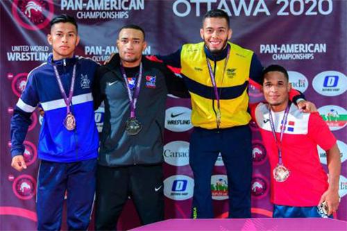 Emerson Ordóñez ganó el bronce en Campeonato Panamericano de Luchas 2020