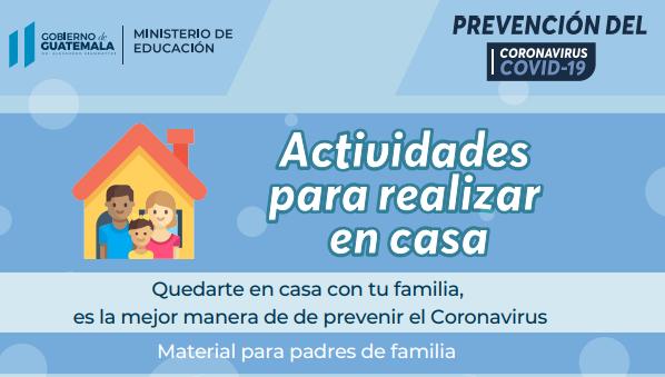Guías de estudio Mineduc en Guatemala Coronavirus