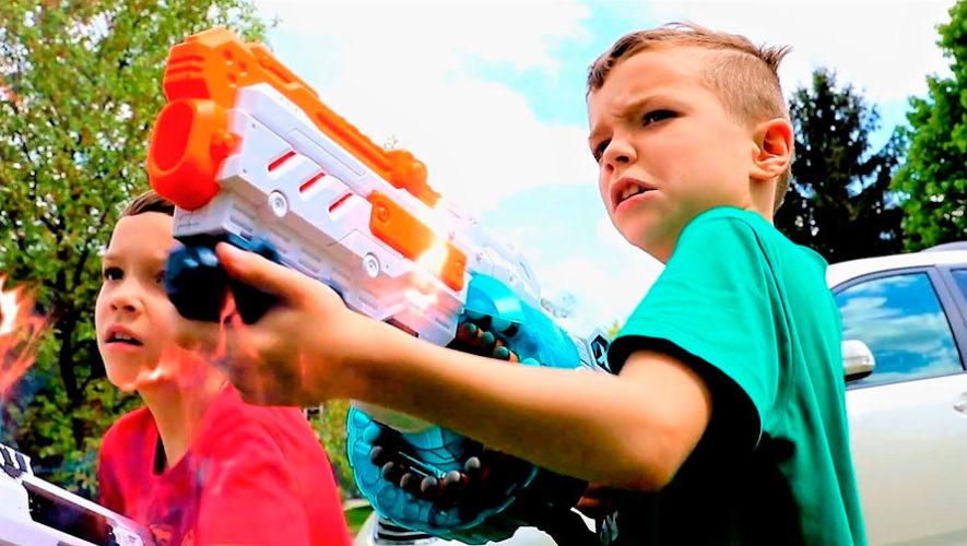 Juegos con pistolas Nerf para niños | Marzo 2020