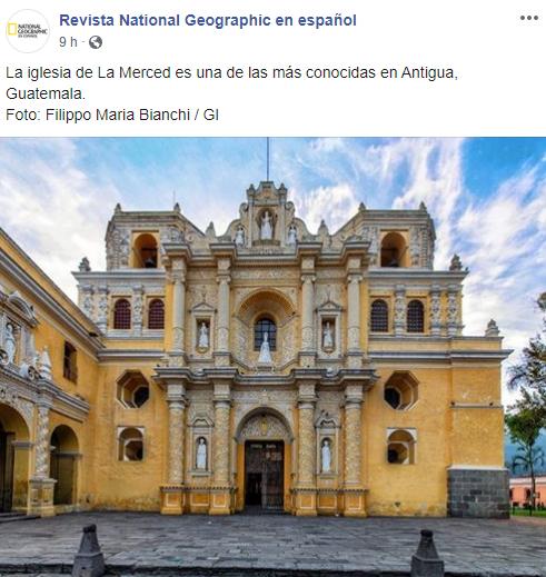 Nat Geo compartió fotos de iglesia de Antigua Guatemala