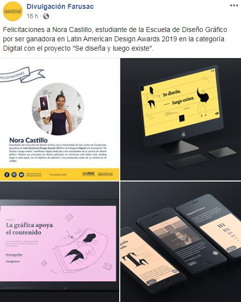 Nora Castillo ganó premio en Latin American Design Awards 2020 en Lima, Perú