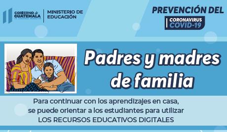 Padres y alumnos guías de estudio en Guatemala