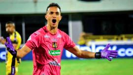 Ricardo Jerez dio la asistencia del empate en el juego Alianza Petrolera vs. Boyacá Chicó