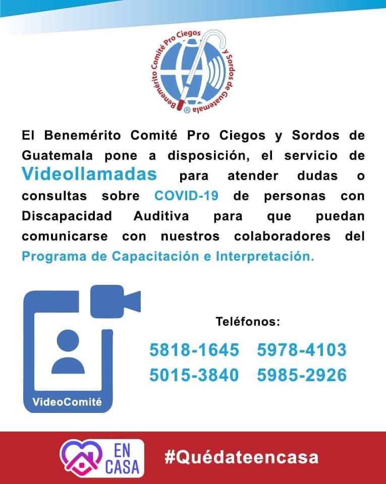 Videollamadas para personas con discapacidad auditiva en Guatemala