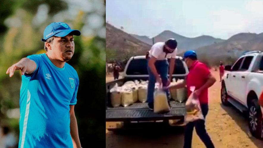 Amarini Villatoro y su esposa donaron víveres a familias de escasos recursos en Chiquimula