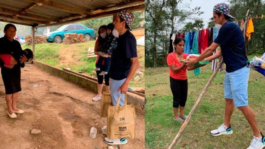 COVID-19: Luis Rivero ayudó a personas de escasos recursos en San Marcos