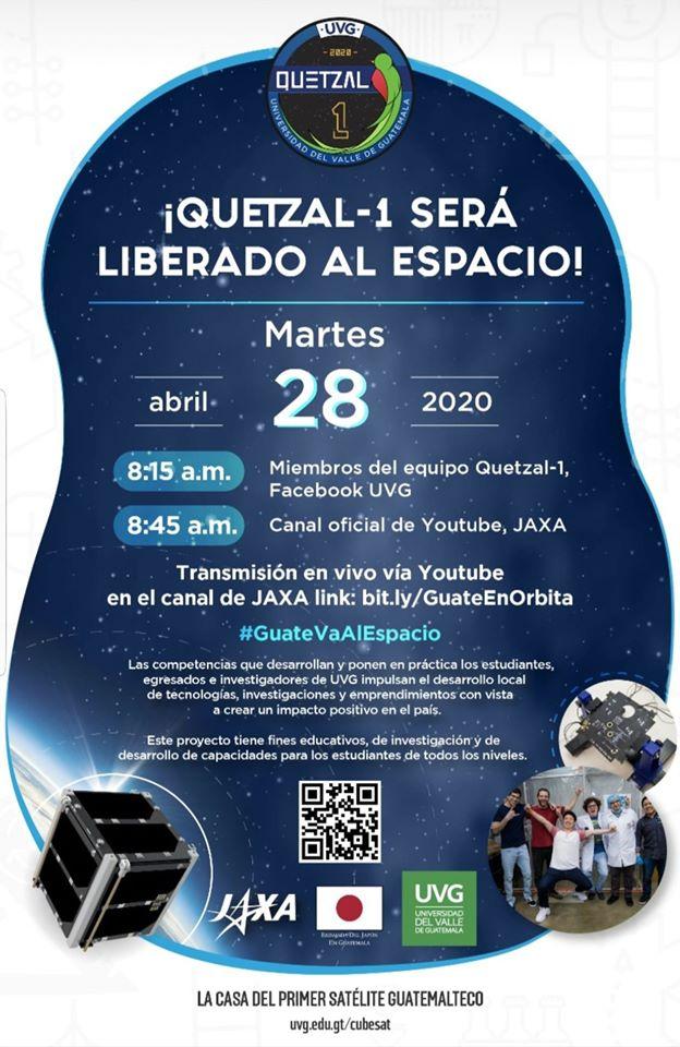 Dónde y cómo ver la liberación del Quetzal 1 al espacio