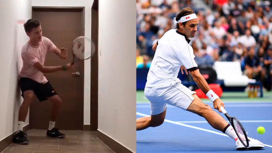 Ian Amaya se volvió tendencia mundial al sorprender a Roger Federer con su particular reto