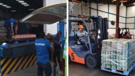 Kern's donó alimentos y bebidas al hospital de campaña Ciudad de Guatemala