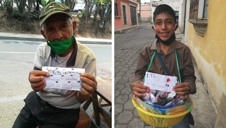 Sé Feliz Guatemala, movimiento recauda dinero para donar a comerciantes informales
