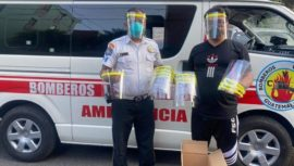 Solutec donó mascarillas 3D a Bomberos Voluntarios de la 78 Compañía de Guatemala