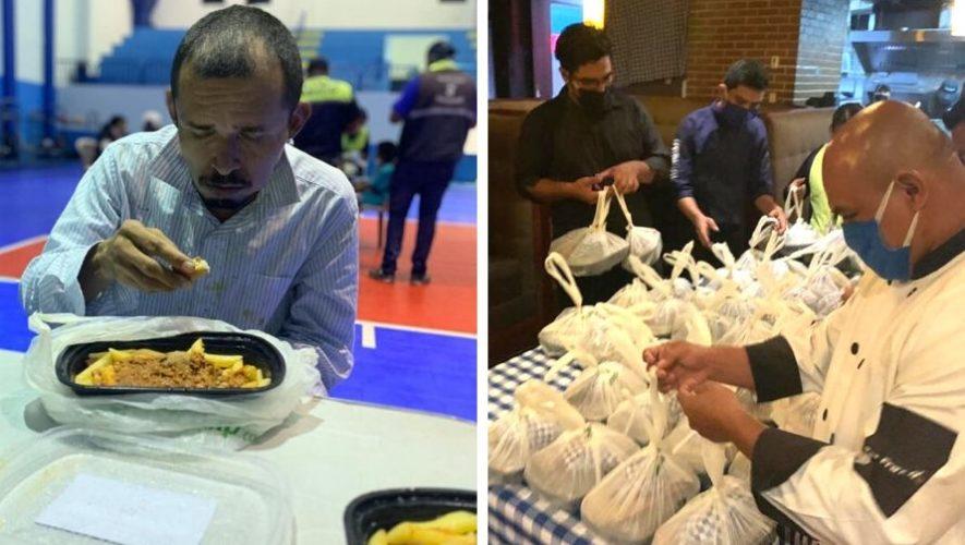 Tre Fratelli regaló cenas a personas sin hogar en el albergue municipal de Mixco