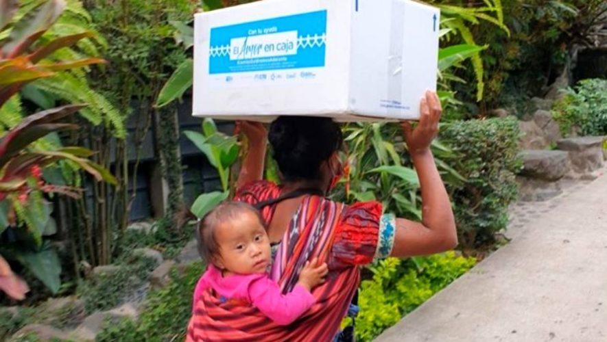 Amor en Caja, una iniciativa que dona alimentos básicos a guatemaltecos por el COVID-19