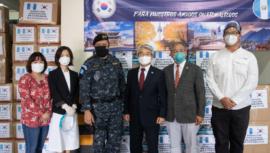 COVID-19: Asociación de Coreanos en Guatemala donó equipos de protección a la PNC