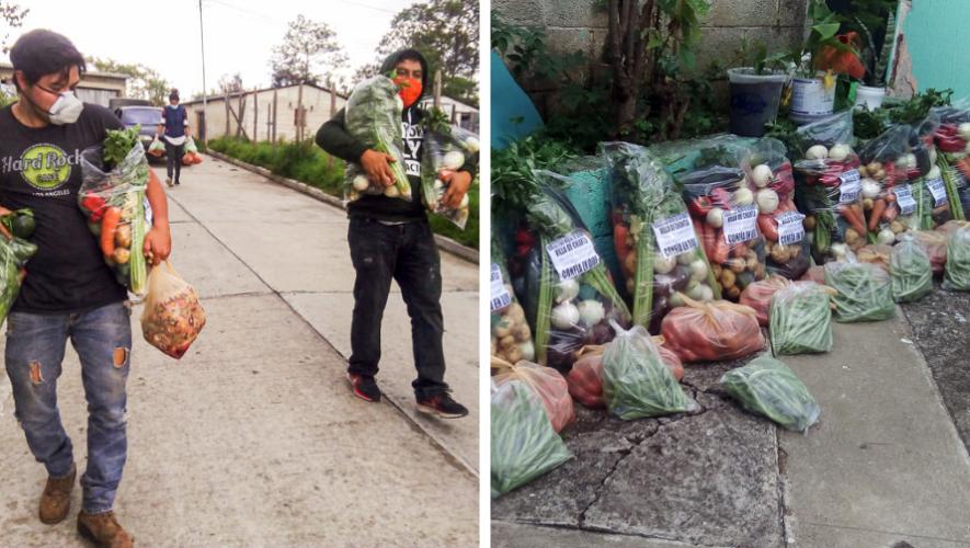 COVID-19: Colectivo Nueve de Diciembre regaló verduras a familias guatemaltecas que están en cuarentena