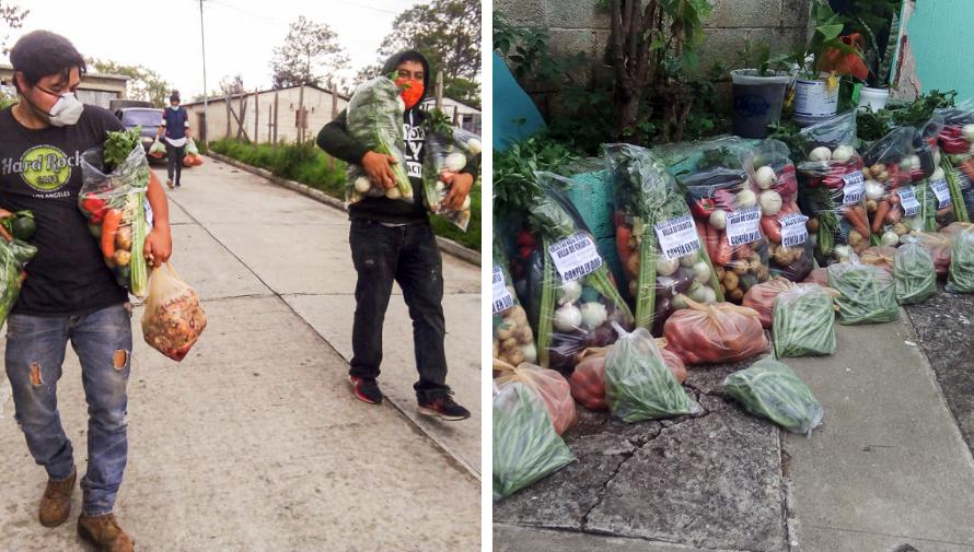 COVID-19: Colectivo Nueve de Diciembre regaló verduras a familias guatemaltecas que lo necesitan