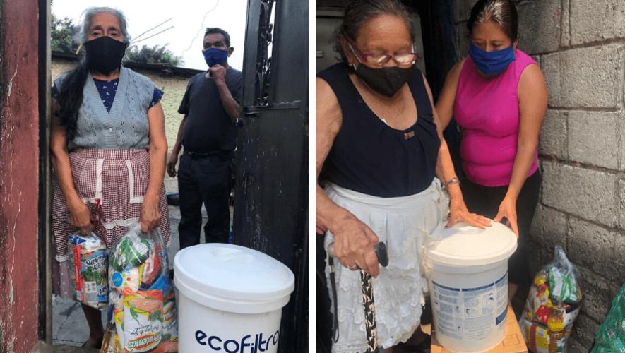 COVID-19 Donaron 670 ecofiltros a adultos mayores y a personal médico