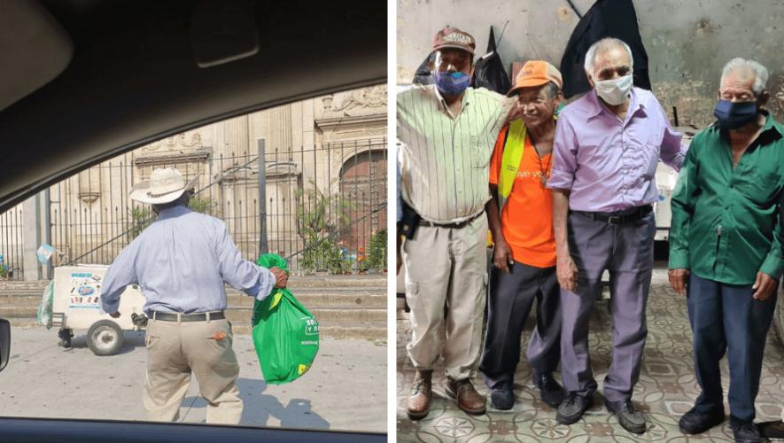 COVID-19 Recaudan víveres para abuelitos que venden helados en la Ciudad de Guatemala