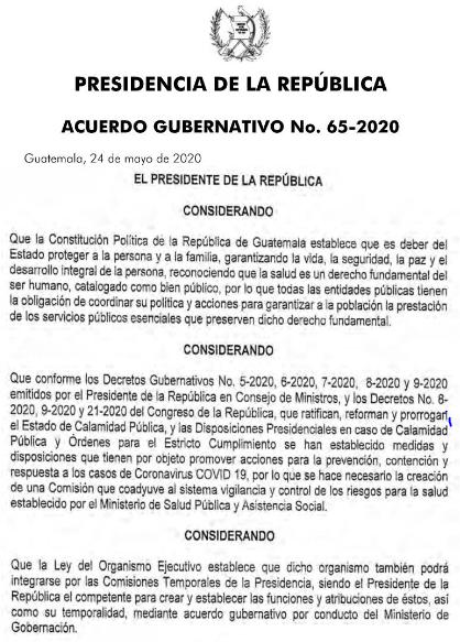 Coprecovid La Comisión Presidencial de Atención a la Emergencia COVID-19 en Guatemala