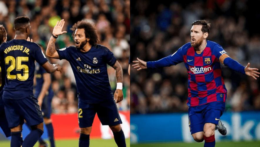 Horarios para ver en Guatemala el regreso del Barcelona y Real Madrid en La Liga 2020