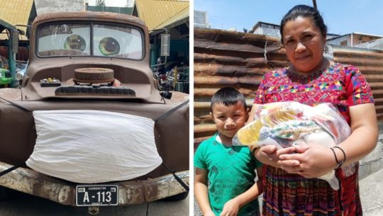 Los Juguetes del Parqueo y Ambi entregaron bolsas de alimentos a personas necesitadas