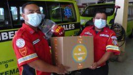 Spectrum donó equipo de protección y bolsas de víveres a servidores públicos