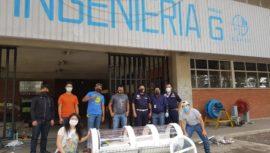 USAC Quetzaltenango donó cápsula de protección a bomberos de Totonicapán