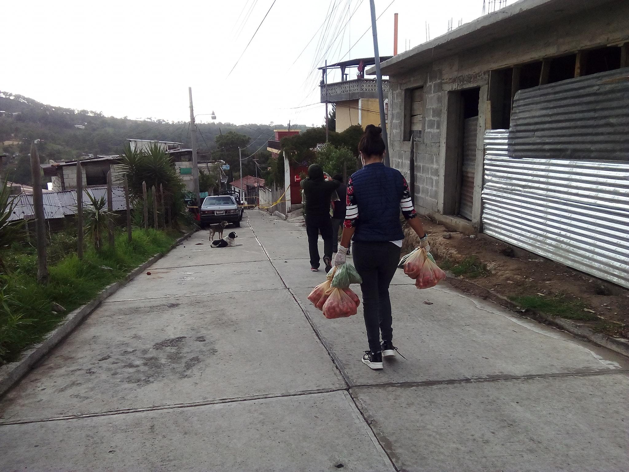 Verduras a familias Huehuetenango