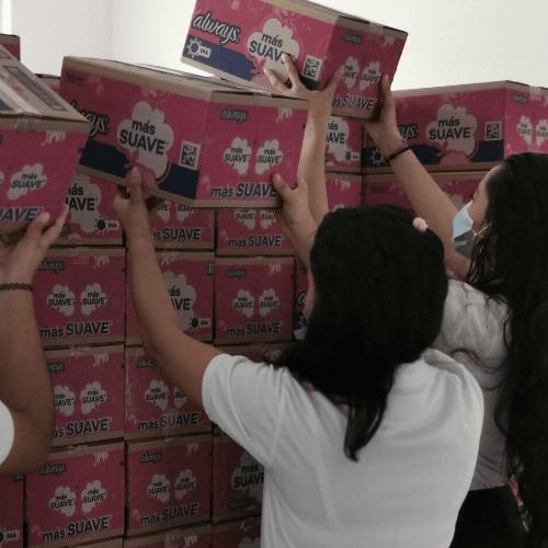 Always donará 100 mil toallas sanitarias a mujeres de escasos recursos